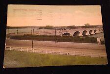 Antique Postcard Hartford Bridge Postmarked 1914 Published By Hartford News Co