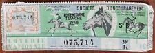 Billet de loterie nationale 1948 39e tranche série B - Société d'Encouragement