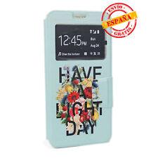 Funda  tap libro y gel Samsung G928 Galaxy S6 Edge PLUS dibujos Mensaje positivo
