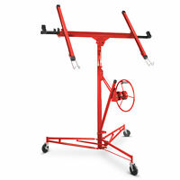 Drywall Lift 11' 15' Lift Panel Hoist Dry Wall Jack Lifter Construction Tool Red