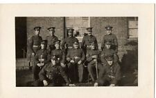 """""""Soldiers Group (12) ,Arrears Section, 1915."""" Photograph Postcard"""