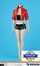 "1/6 Leather Jacket Shorts Clothing Set For Hot Toys PHICEN 12"" Figure ❶USA❶"