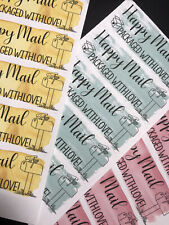 50 Happy Mail Packaged With Love Sticker Labels