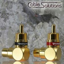 Vampire Wire Right-Angle RCA Adapters Pair #90A / 90A Short