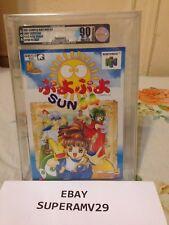 Puyo Puyo Sun 64 Nintendo64 JAPAN VGA 90 QUALIFIED ARCHIVAL CASE