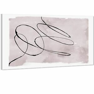 Abstract Lilac Black Illustration Canvas Art Pictures
