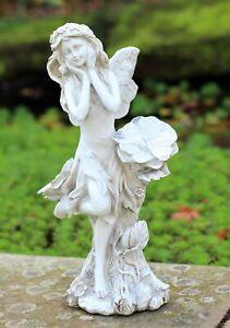 Garden Solar Ornament Cherub Mermaid Fairy Angel Figurine Angel Statue 35cm Tall