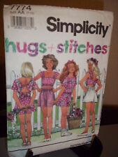 Simplicity #7774 Sewing Pattern Girls Shorts Tops Size AA 7 8 10 Uncut FF