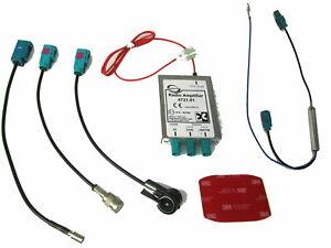 Antennen Splitter generiert DAB+ Dietz Fakra ISO Phantomspeisung passend für VW
