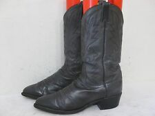 DAN POST Charcoal Gray Leather Cowboy Western Boots Men Size 9 EW Style 1195 USA