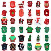 Pets Dog Sweater Hoddy Santa Claus Jaket Costume Puppy Xmas Christmas Coat Shirt