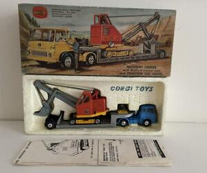 Corgi Gift Set 27 Bedford Tractor Machine Carrier & Priestman Cub Boxed