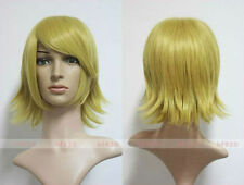 Vocaloid Kagamine Rin Cosplay Wig Blonde Short  Party Hair + free gift