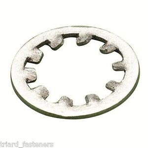 M6 Internal Shakeproof / Toothed Lock Washers A2 Stainless 100 PK DIN 6797 J