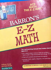 Barron's Easy Way Ser.: E-Z Math by Katie Prindle and Anthony Prindle (Trade...