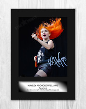 More details for hayley williams 1 paramore a4 signed mounted photograph poster