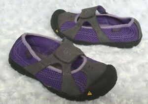 KEEN Girls Breezemont CNX Purple Hiking Shoes (Little Kids Size 13)