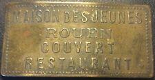 Normandie - Rouen (76) Jeton de nécessité MAISON DES JEUNES COUVERT RESTAURANT !