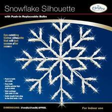 2 large white snowflake christmas window fairy light silhouette xmas decorations