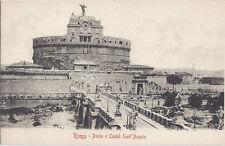 ROMA - PONTE E CASTEL S. ANGELO - NV - DORSO UNITO