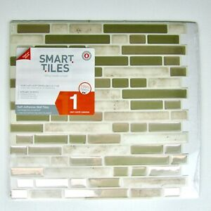 "SMART TILES- (Bellagio Sabbia) 10.06"" x 10.0"" (1 sheet) Peel & Stick Mosaic Wall"