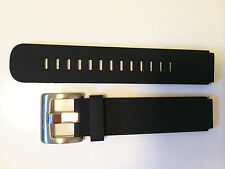 WATCH STRAP BAND 18MM SILICONE RUBBER BLACK CUSTOM FIT VOSTOK AMPHIBIAN