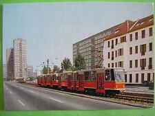 AK Ansichtskarte Postkarte Straßenbahn Tatra KT4D BVG Berlin