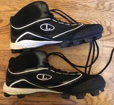 Louisville Slugger High Top Baseball Cleats Men 12 Fusion XP PVS 360 Black White