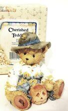 Cherished Teddies 912786 Gary Scarecrow Bear Figurine Halloween New vintage 1993