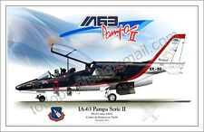 "IA-63 ""PAMPA II"" -EX-03 FUERZA AEREA ARGENTINA- Aircraft Poster"