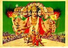 Krishna Upadesh Indian Gods Fine Art Reproduction Rolled Canvas Giclee 32x24 in.