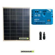 Kit Solare Fotovoltaico pannello 80W 12V Regolatore PWM 5A Camper Casa Nautica