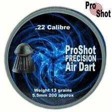 ProShot Precision Air Dart .22 Air Rifle Pellets Air Gun Ammunition Tins of 200
