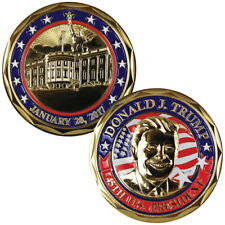 NEW Colorized Donald Trump - 45th US President Challenge Coin - White House