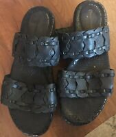 Rockport AdiPrene by Adidas Sandals Slides Black Leather Size 9