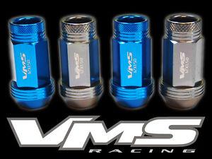 VMS RACING 20 48MM PREMIUM EXTENDED WHEEL LUG NUTS 12X1.5 BLUE GUNMETAL MIX BG2