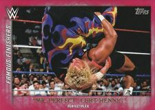 2015 TOPPS WWE UNDISPUTED FAMOUS FINISHERS MR. PERFECT CURT HENNIG RED PARALLEL