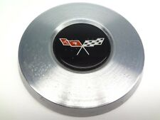 Corvette 1977 Rare GM Recall Steering Wheel Horn Button Polished Silver No Paint