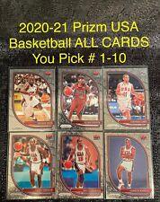 2020-21 PANINI PRIZM USA BASKETBALL INSERT Card #1-10 Complete Your Set You Pick