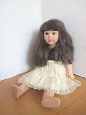 "MADAME ALEXANDER 19"" Brunette DOLL~Adorable Dress~2010~EUC"