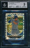 BGS 9 w/9.5 AARON JUDGE 2013 Bowman Chrome Mini XFRACTOR REFRACTOR #/100 RC MINT