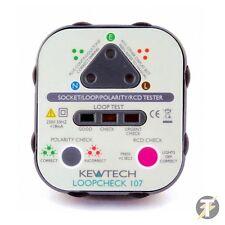 Kewtech Loopcheck 107 Socket, Loop & RCD Tester
