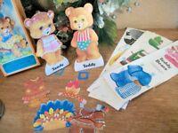 Teddy Bears Paper Dolls Vintage 1979 Toy Children Boy Girls Artist Susan Morris
