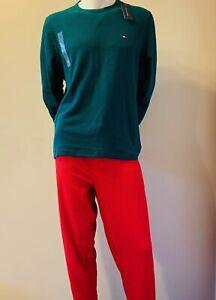 Mens Tommy Hilfiger Pajama Set Cotton Sleepwear Pants and T-Shirt Gift Set NEW
