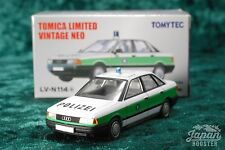 [TOMICA LIMITED VINTAGE NEO LV-N114a 1/64] AUDI 80 2.0E German Police Car (White