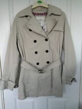 DOUBLE BREASTED BELTED RAINCOAT/MAC SIZE UK 10 BNWT RRP £34.99