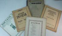 5 Stück Notenhefte Piano Klaviernoten gates Anton Dvorak Smetana vintage y4-71
