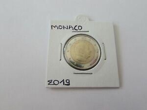 Pièce 2 Euros Monaco 2019