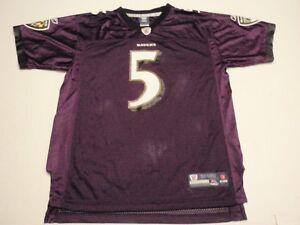 Joe Flacco Baltimore Ravens Reebok NFL Jersey Size Youth Extra Large (18-20) #5
