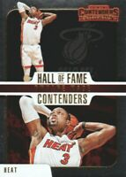 2018-19 Panini Contenders Hall of Fame #19 Dwyane Wade Miami Heat